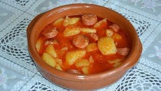 Картофель по-риохски. Испанская кухня