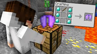 So I actually crafted an ELYTRA in this Minecraft UHC...