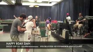 Justin Bieber wrote a song for dankanter's birthday! vid from djtayjames.