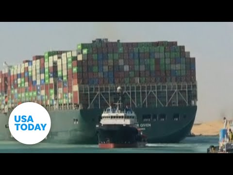 Suez Canal: Stuck container ship Ever Given free and on the move   USA TODAY