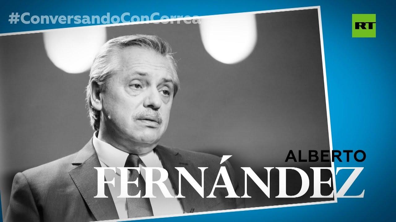 Alberto Fernández en 'Conversando con Correa' habla del FMI, México, Chile