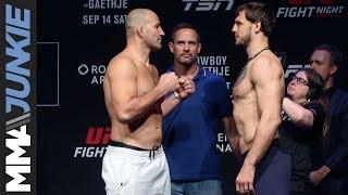 UFC Vancouver ceremonial faceoffs