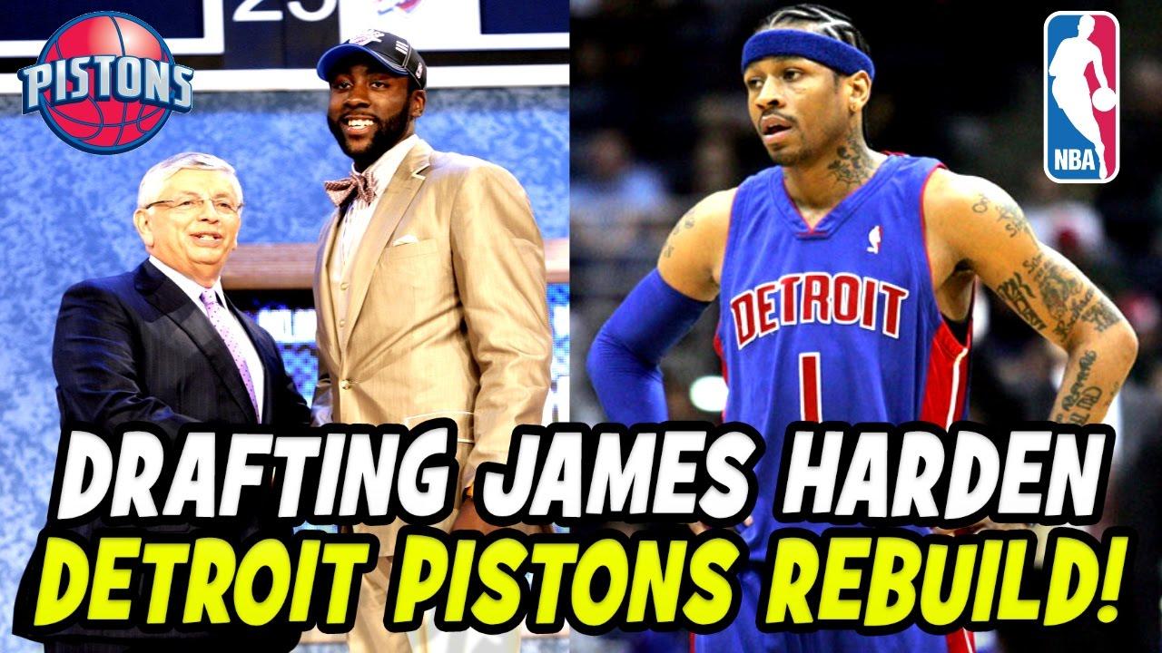check out edd9c 612c5 DRAFTING ROOKIE JAMES HARDEN! ALLEN IVERSON DETROIT PISTONS REBUILD! NBA  2K17 MY LEAGUE