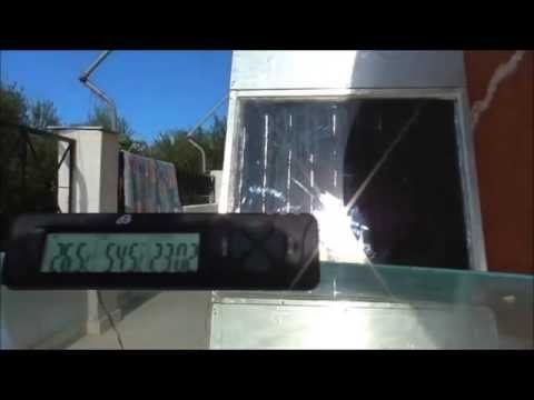Solar Air Heater 4G homade Testing 70Celsius-158Fahr -Free energy