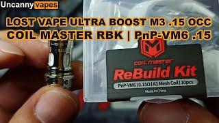 How to rebuild L๐st Vape Ultra Boost M3 .15 ohm OCC using PnP-VM6 .15 ohm Coil Master Rebuild Kit