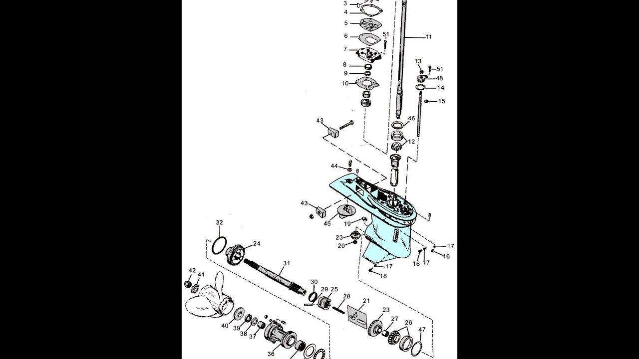 Mercury exploded outboard parts drawings 3 9 hp thru V6