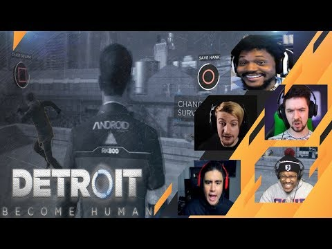 Gamers Reactions to SAVING HANK or CHASING RUPERT | Detroit: Become Human
