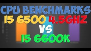 intel i5 6500 4 5 ghz overclocked vs intel i5 6600k benchmarks gaming tests review win 10