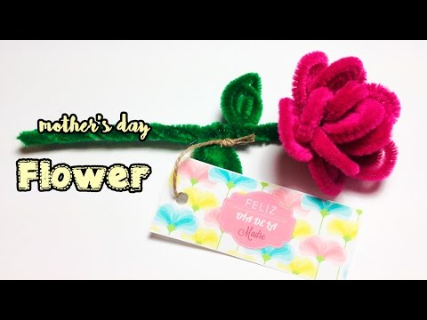 Pipe Cleaner Flower   Motheru0027s Day Craft