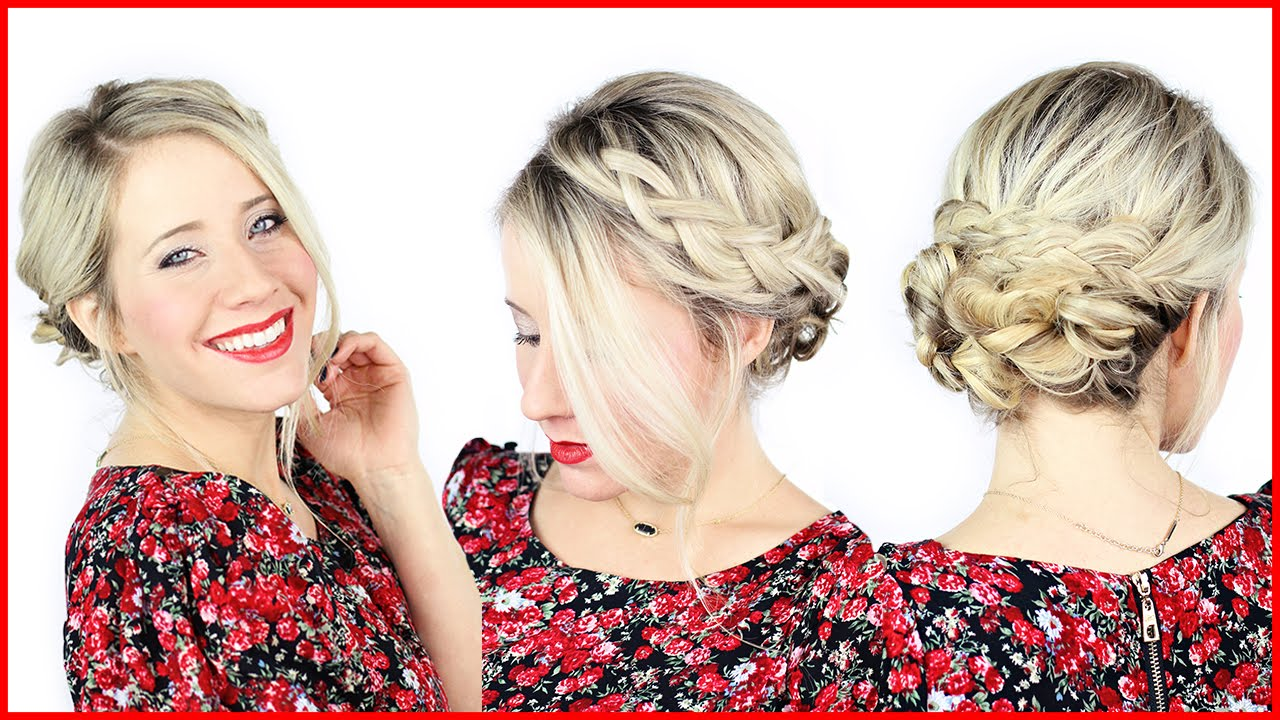How To: Simple Braided Updo with Kenra Professional - YouTube