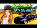 MODDER MEETS DIRTY GIRL GAMER ONLINE! (GTA 5 FUNNY TROLLING!) *Hilarious*