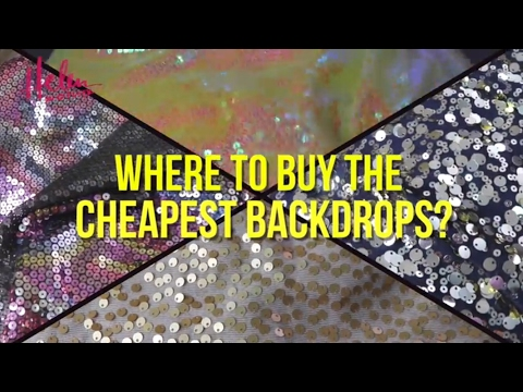 THE CHEAPEST PLACE TO GET SEQUIN BACKDROPS FOR YOUTUBE! (Philippines) | HelenOnFleek