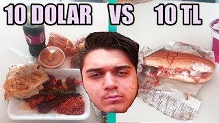 10 DOLAR YEMEK VS 10 TL YEMEK!