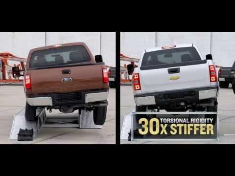 Chevy Silverado 3500HD Head to Head Frame Strength Test No. 2 Twist Ditch