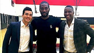 Kawhi Leonard Arrives in Toronto and Meets Raptors GM After Being Traded From Spurs!