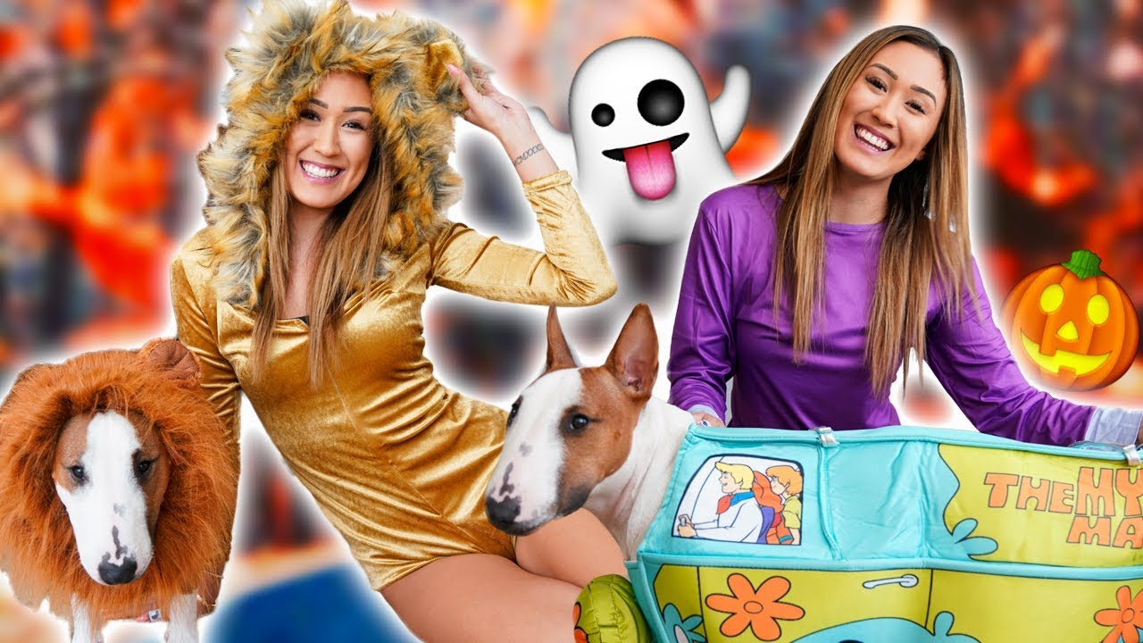 Trying On Halloween Costumes With My Dog