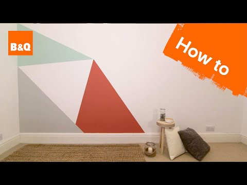 How to paint a geometric triangle feature wall