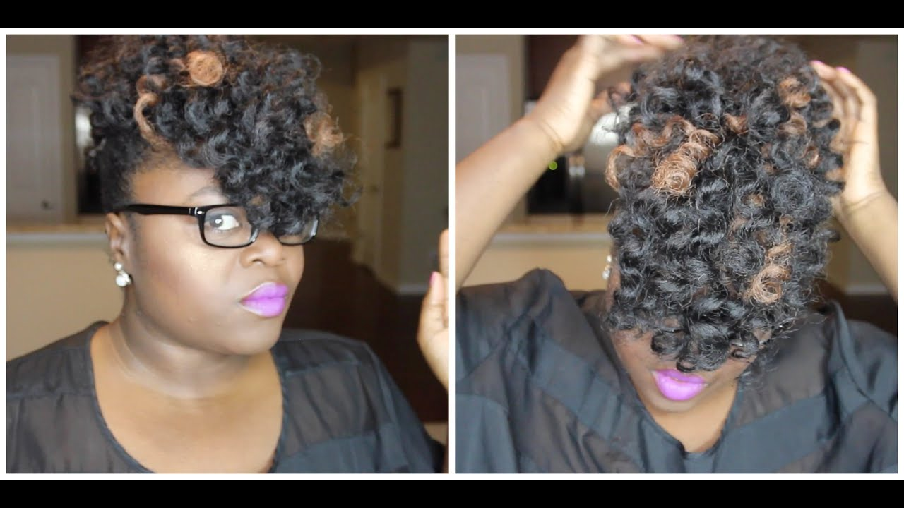 ... Crochet Updo Style Natural, Transitioning or Relaxed Hair - YouTube