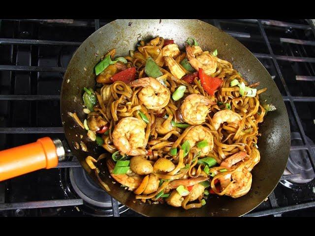 The Ultimate Shrimp Lo Mein | CaribbeanPot.com