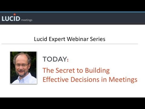 The Secret to Building Effective Decisions in Meetings