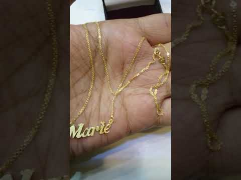 18K Pure Gold Name Necklace » ♥ A Perfect Gift For Your Loved One ♥