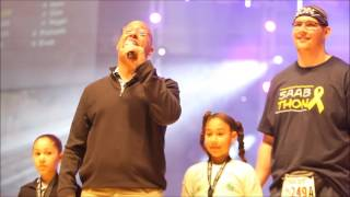 Thon 2017: Penn State coach James Franklin motivates students
