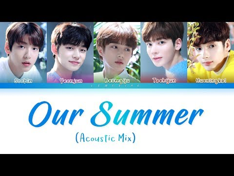 TXT - Our Summer (Acoustic Mix) (투모로우바이투게더 - Our Summer) [Color Coded Lyrics/Han/Rom/Eng/가사]
