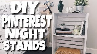 Pinterest Nightstands - Do It Yourself