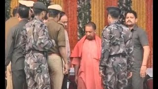 Yogi Adityanath leaves VVIP guest house in Lucknow