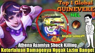 Athena Asamiya Shock Killing | SUMPAH Damagenya Nggak Lazim Banget - Top 1 Global Guinevere ɴᴇʟ