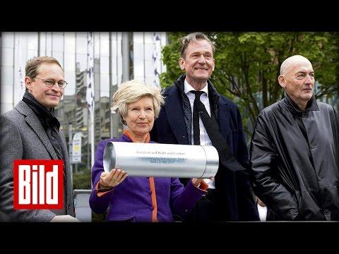 Axel Springer Neubau in Berlin - Grundstein für hochmodernes Medienhaus gelegt