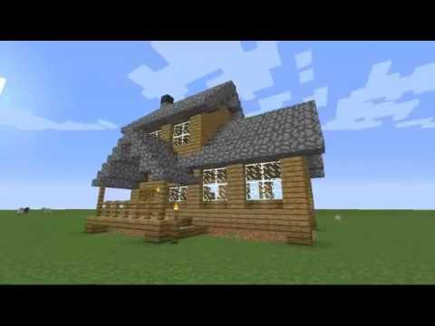 Houten Woning Ideeen : Hoe bouw je een middelmatige houten huis op minecraft youtube