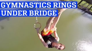 Bridge Stunts with Gymnastics Rings! | People are Awesome