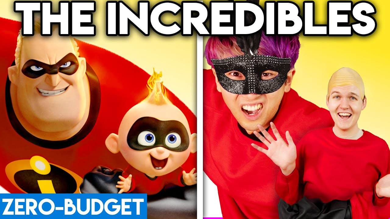 Download THE INCREDIBLES WITH ZERO BUDGET! ('The Incredibles 2' Pixar Movie PARODY)