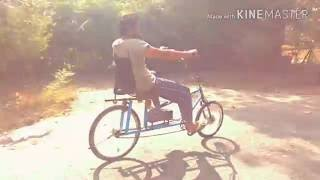 Home Made Semi recumbent electric bike India 250 watt