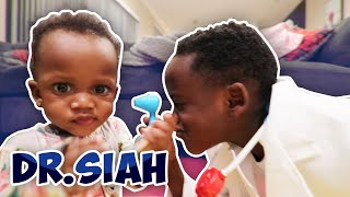 Doctor Siah Gives Baby Sister A Check UP