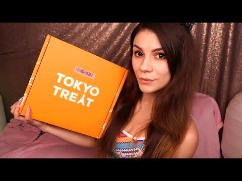 АСМР 🎁 Распаковка Коробочки 🍍 Tokyo Treat 🥥 (Японские Сладости) - Шепот, Таппинг, Шуршалки