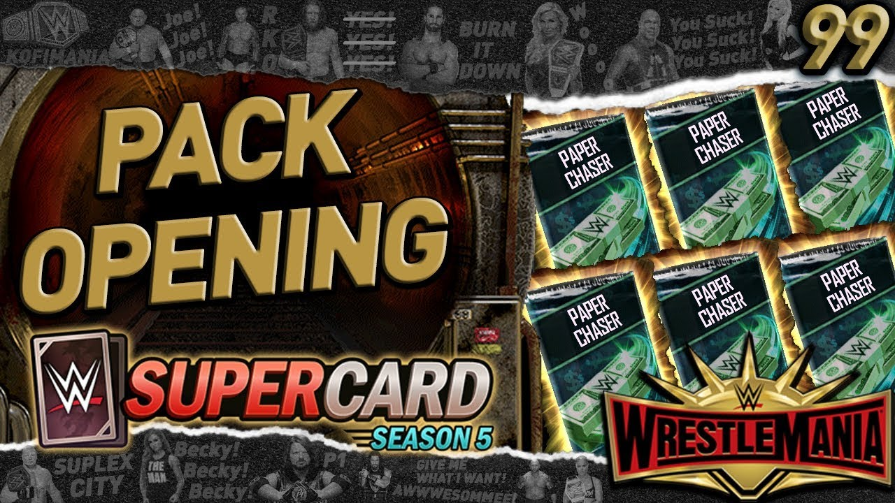 Free Wrestlemania 35 Pull New Update Ticket Packs Wwe Supercard S5 105