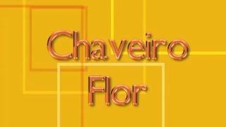 Feltro: Chaveiro de Flor – Artesanato na Rede