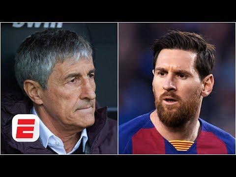 Quique Setien Fires Back At Lionel Messi Regarding Barcelona's Champions League Hopes | ESPN FC