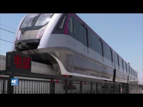 Primer tren monorriel de imán en China