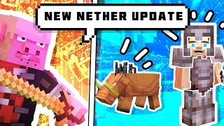 MINECRAFT NEW 1.1.6 NETHER UPDATE MOBS  || NETHERITE || ANDROID HINDI GAMEPLAY