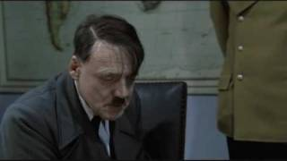 Hitler breaks his TV with a Wii Remote