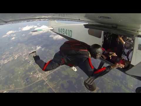 First AFF free fall; 10,000 feet