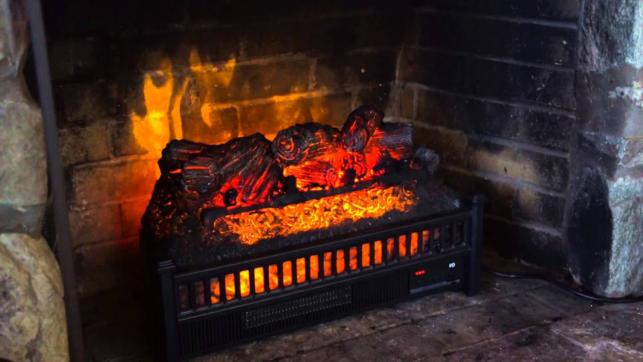 ELECTRIC LOG INSERT SKU# 14001 - Plow & Hearth - YouTube