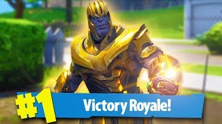 *INFINITY GAUNTLET* PLAYING AS THANOS in Fortnite Battle Royale!