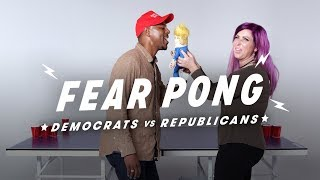 Democrats & Republicans Play Fear Pong (Kellen vs. Amanda)