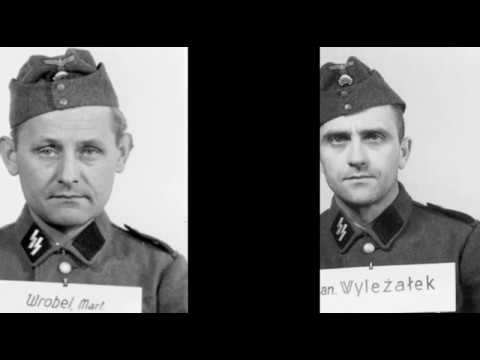 Concentration Camp Auschwitz. SS Guards. 845 faces of death. Strażnicy z Auschwitz - twarze.