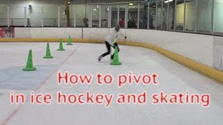 How To Pivot In Ice Hockey Power Skating - Learn to pivot forwards to backwards or forward tutorial