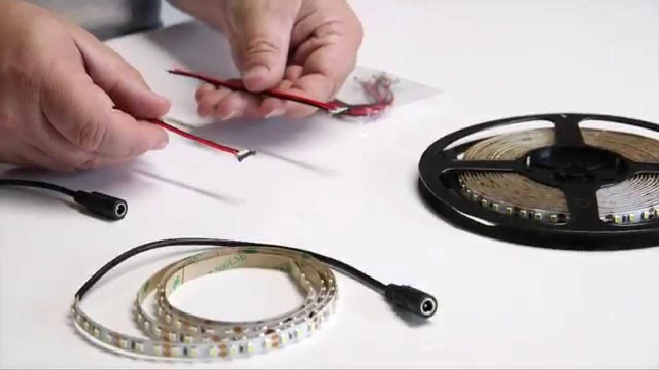 How To Cut Connect Power Led Strip Lighting Youtube